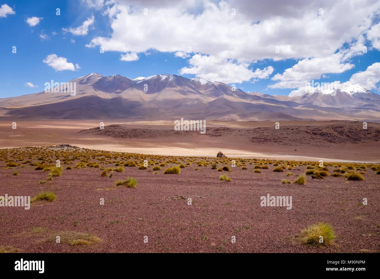 Altiplano montagne del sud Lipez reserva Eduardo Avaroa, Bolivia Immagini Stock