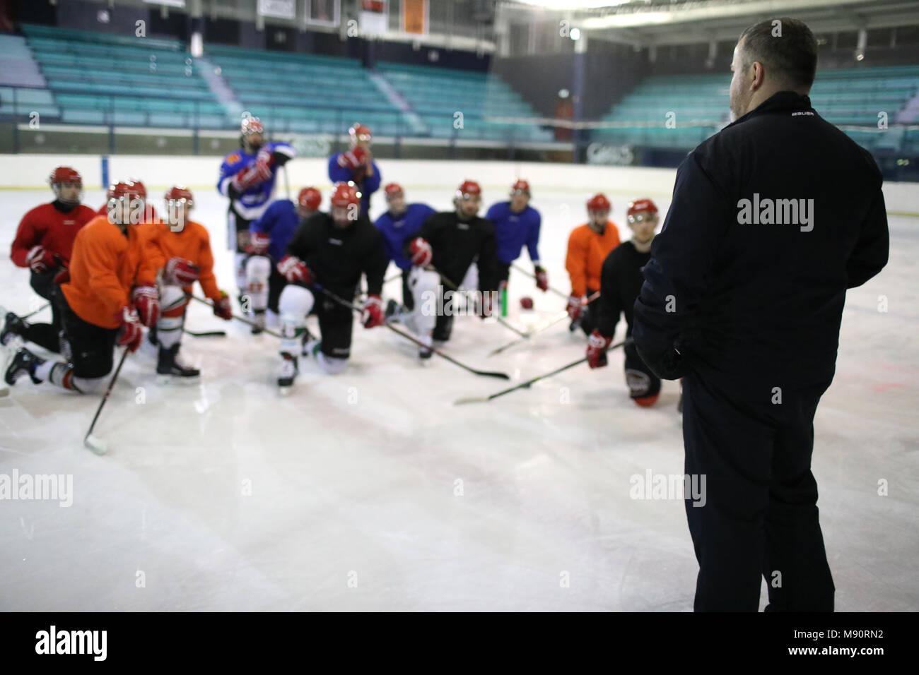 Hockey su ghiaccio. Immagini Stock