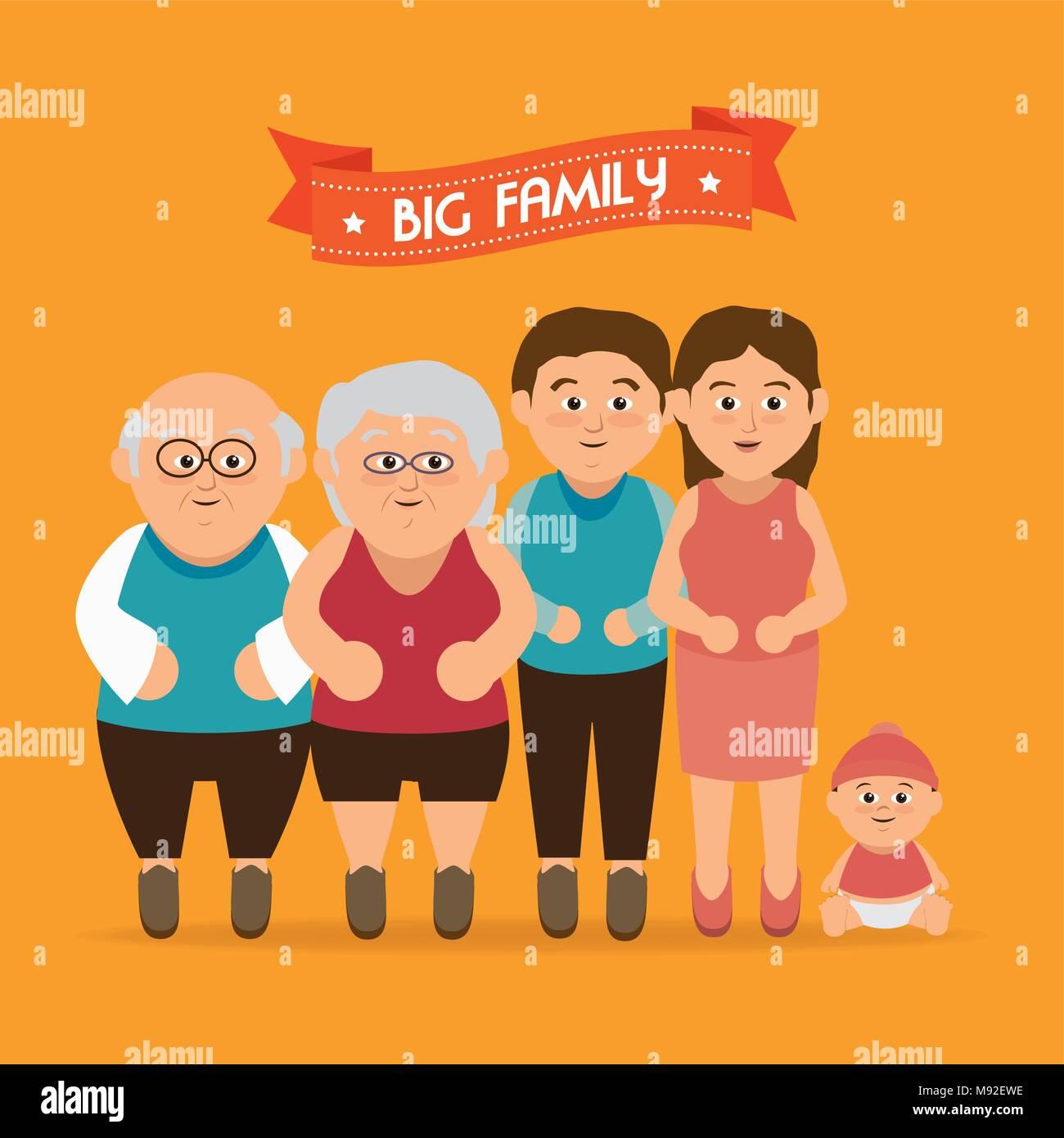 Famiglia Unita Graphic Illustrazione Vettoriale 177691178 Alamy