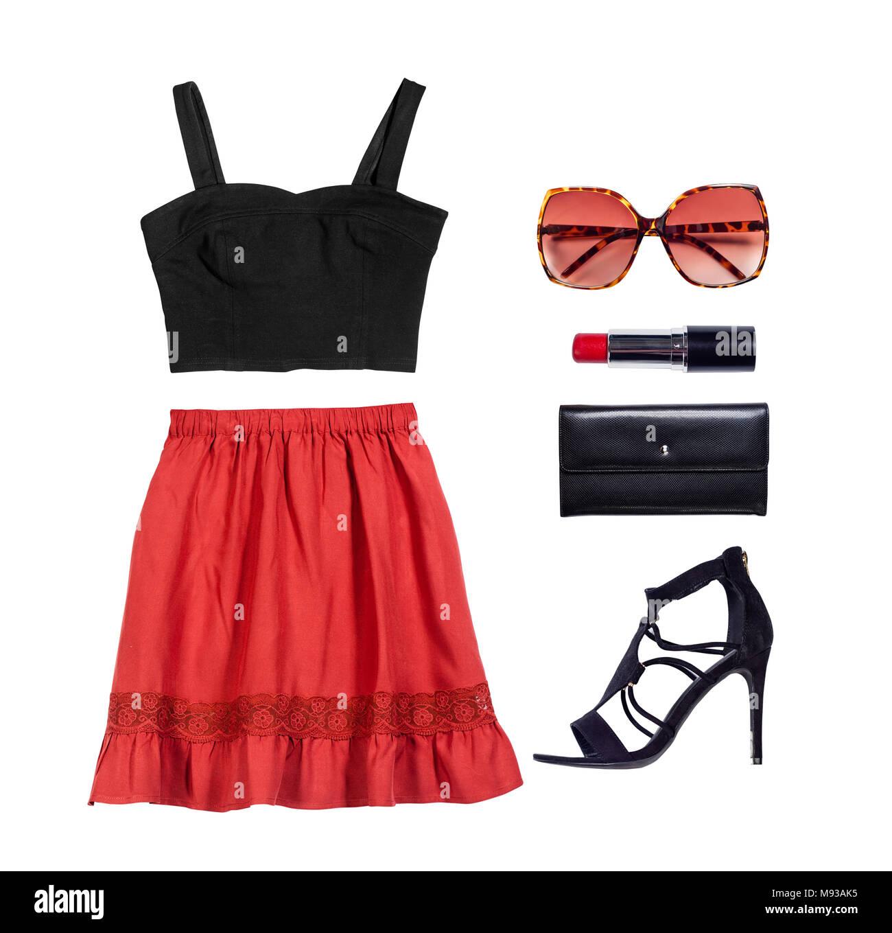 1a2e8b552a4c Corredo di abbigliamento e accessori donna Foto   Immagine Stock ...