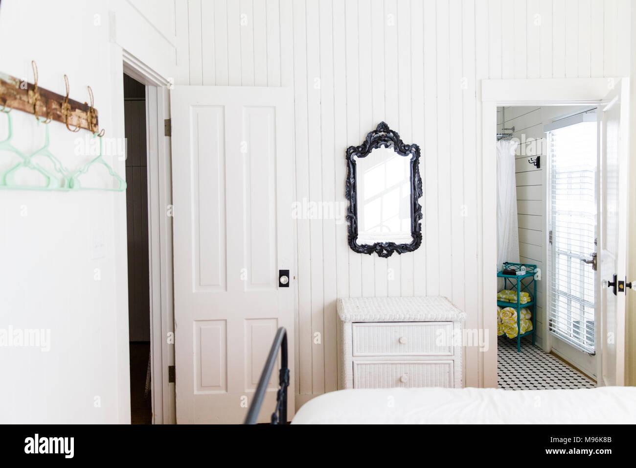 Casa bianca interno Immagini Stock