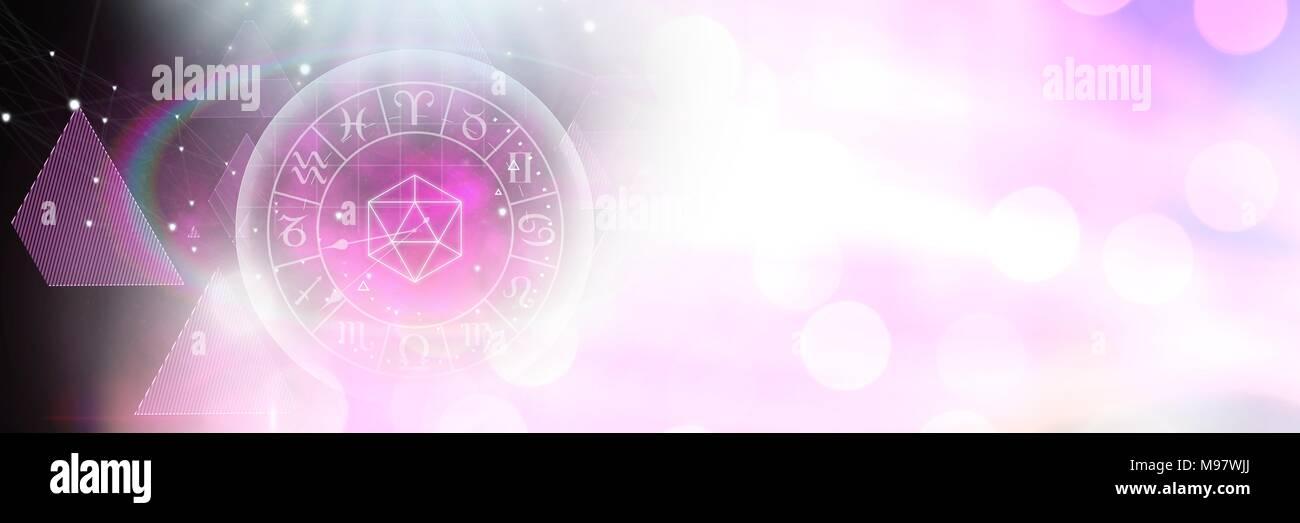 Astrologia zodiaco con scintillio di luci e forme Foto & Immagine ...