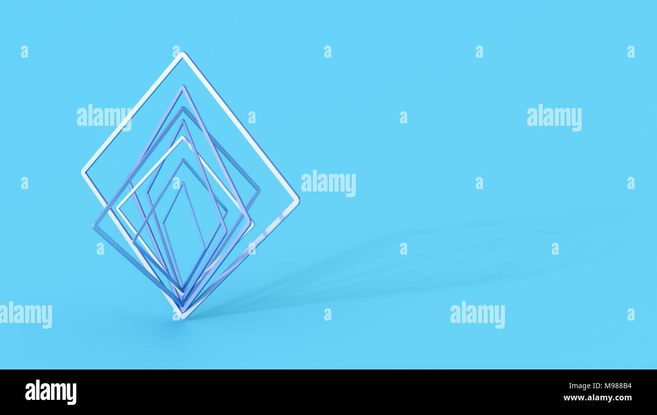 Abstract piazze di bilanciamento, rendering 3D Immagini Stock