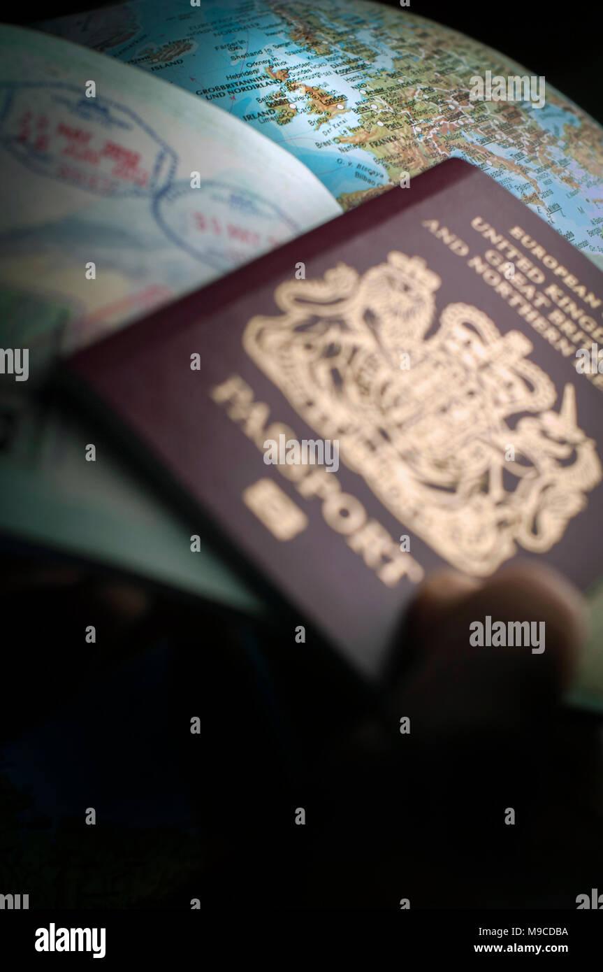 Dopo Brexit si è visto essere necessari per viaggiare in Europa. Immagini Stock