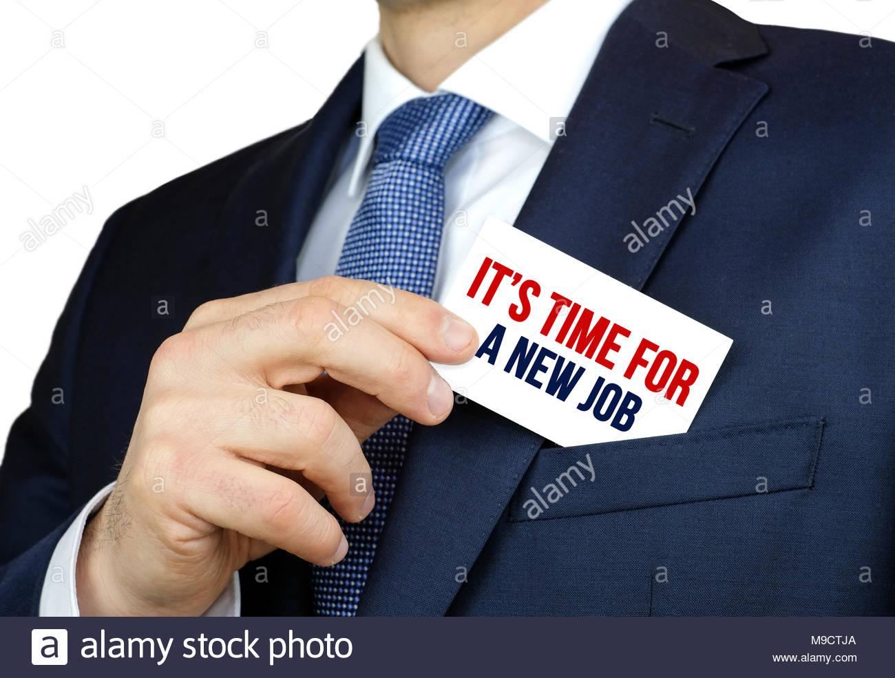 È tempo per un nuovo lavoro - nozione di carriera Immagini Stock
