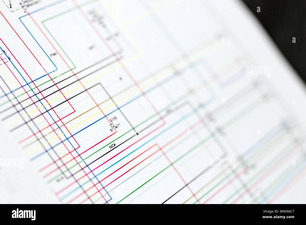 Schema Cablaggio Rete : Wire diagram map immagini & wire diagram map fotos stock alamy