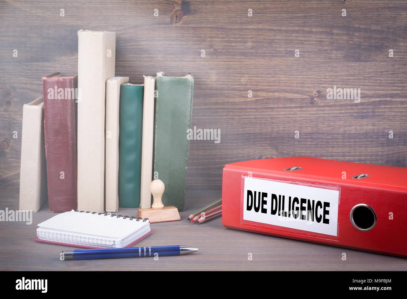Due Diligence, concetto di Business Immagini Stock