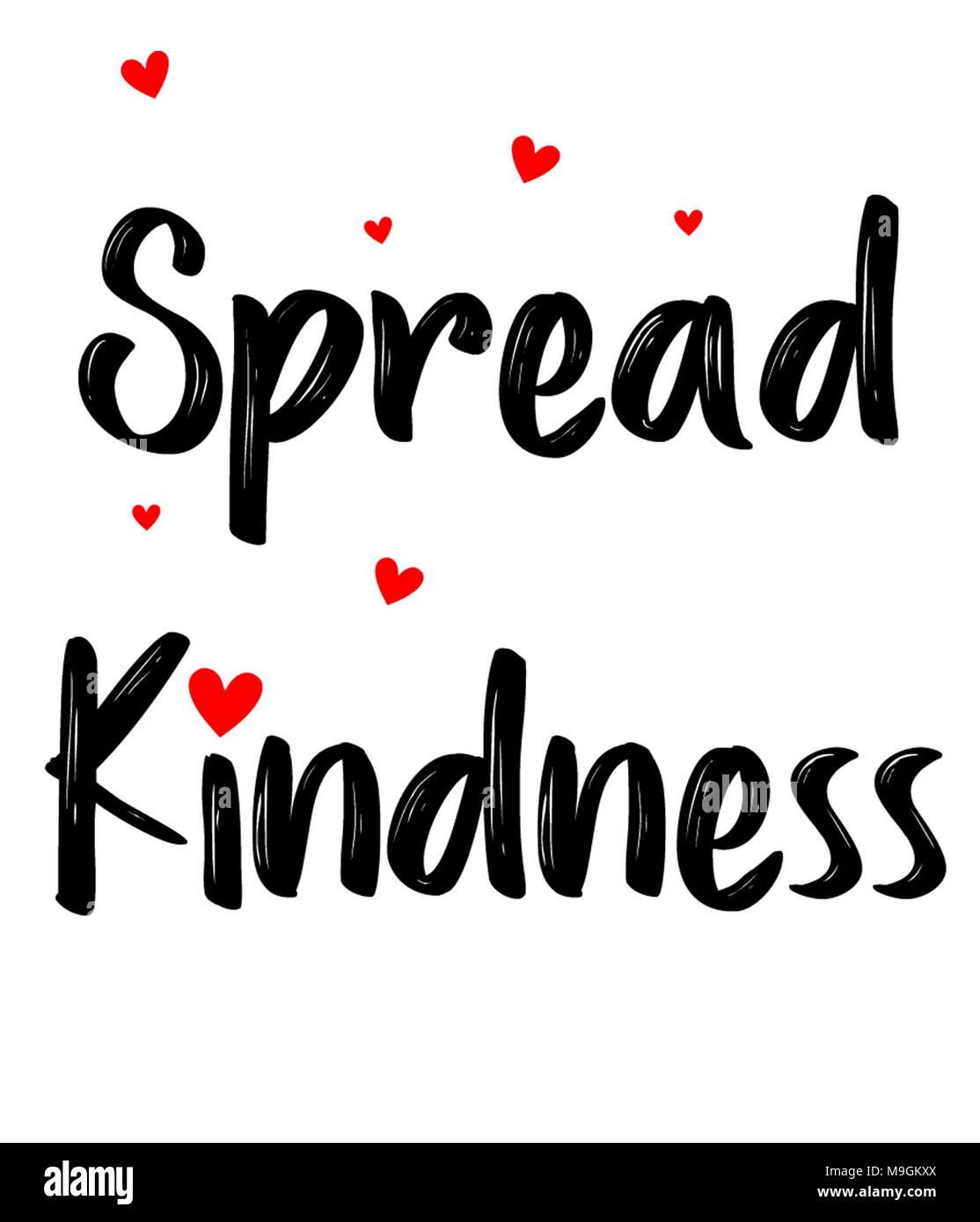 Diffondere la gentilezza Immagini Stock