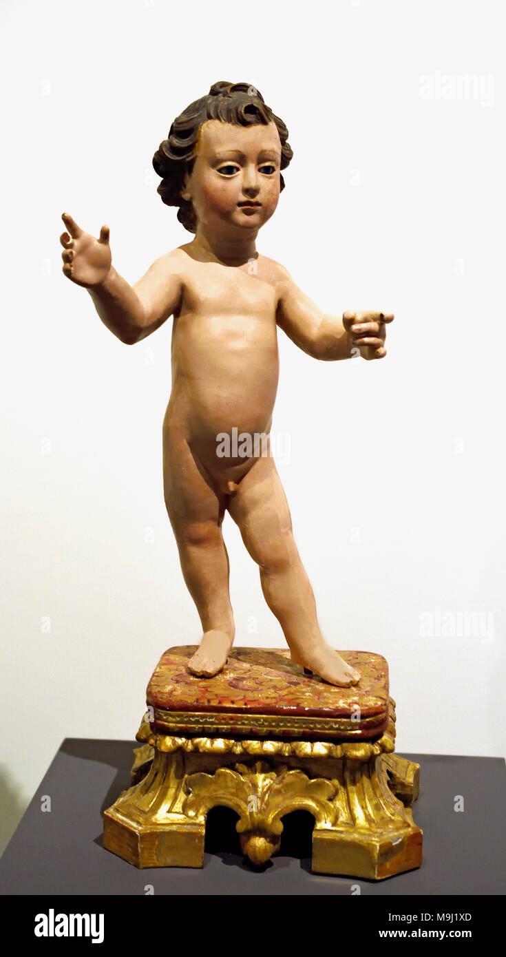 Il Bambino Gesù del xviii secolo portoghese Portogallo Coimbra Immagini Stock