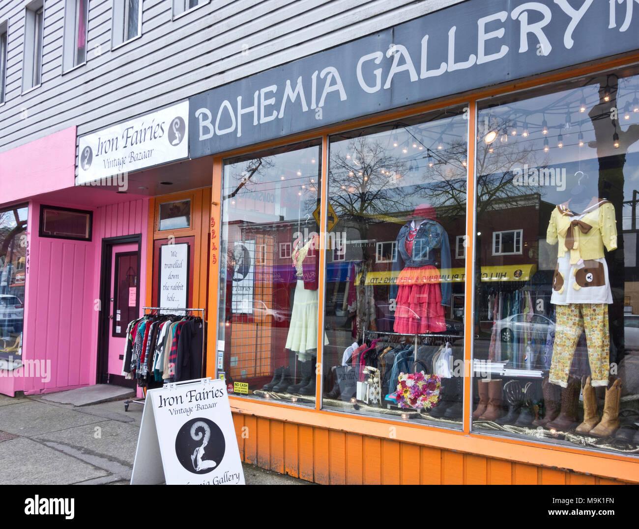 low priced 7a2bf 0c1a8 Negozi di abbigliamento vintage su Main Street a Vancouver ...