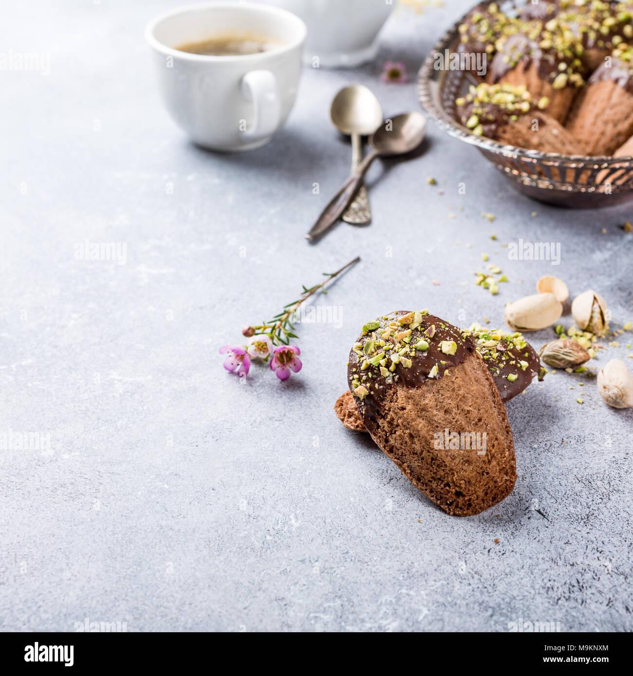 Cioccolato artigianale cookies Madeleine Immagini Stock