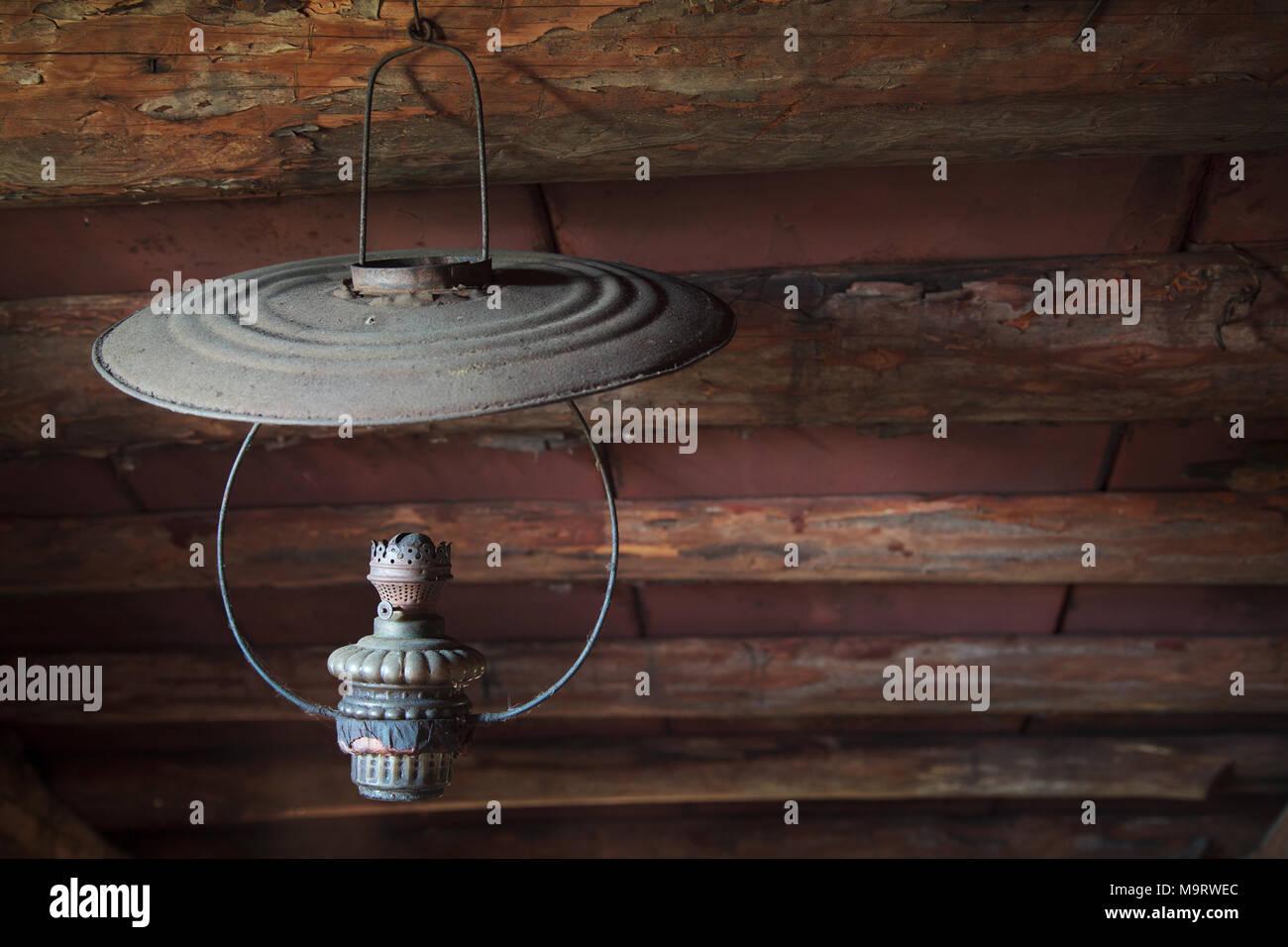 Lampade Soffitto Per Mansarde rarità polverosa lampada a kerosene sospeso al di sotto del