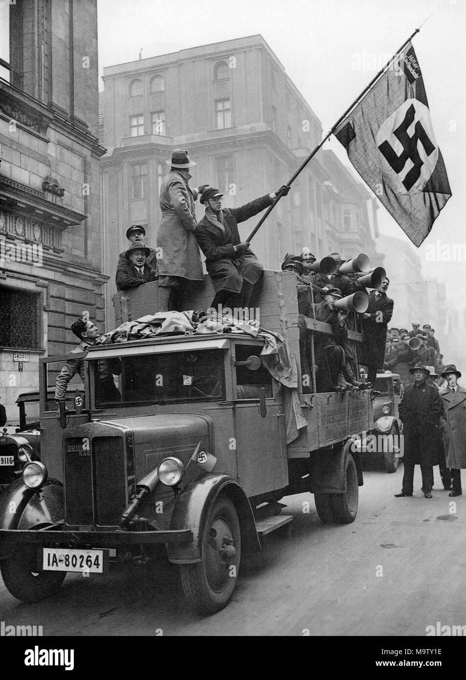 RALLY nazista in Potsdam circa 1923 Immagini Stock