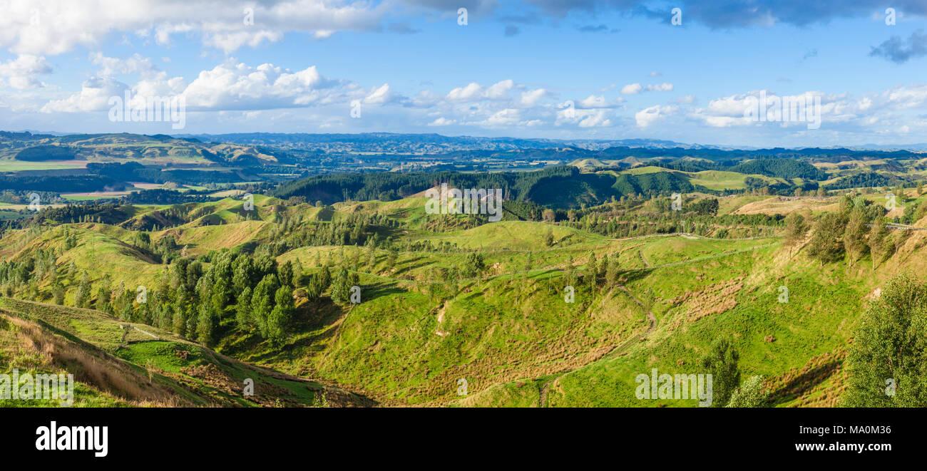 Nuova Zelanda Stormy Point Lookout Nuova Zelanda con vedute della ...