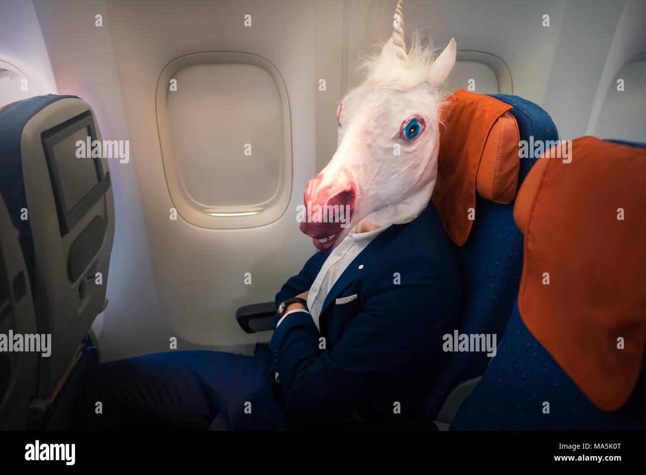 maschera e boccaglio in aereo