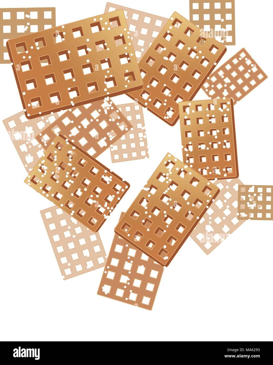Una illustrazione vettoriale in formato eps formato 10 di cialde di zucchero e un pizzico di burattatura su sfondo bianco Immagini Stock