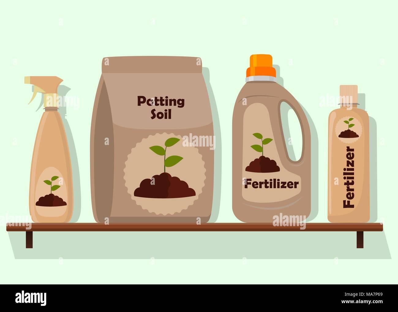 Imballaggio con terreno per le piante in vaso terreno di