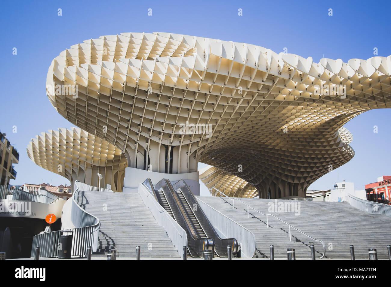 Metropol Parasol (incarnazione il fungo) a Siviglia Spagna Immagini Stock
