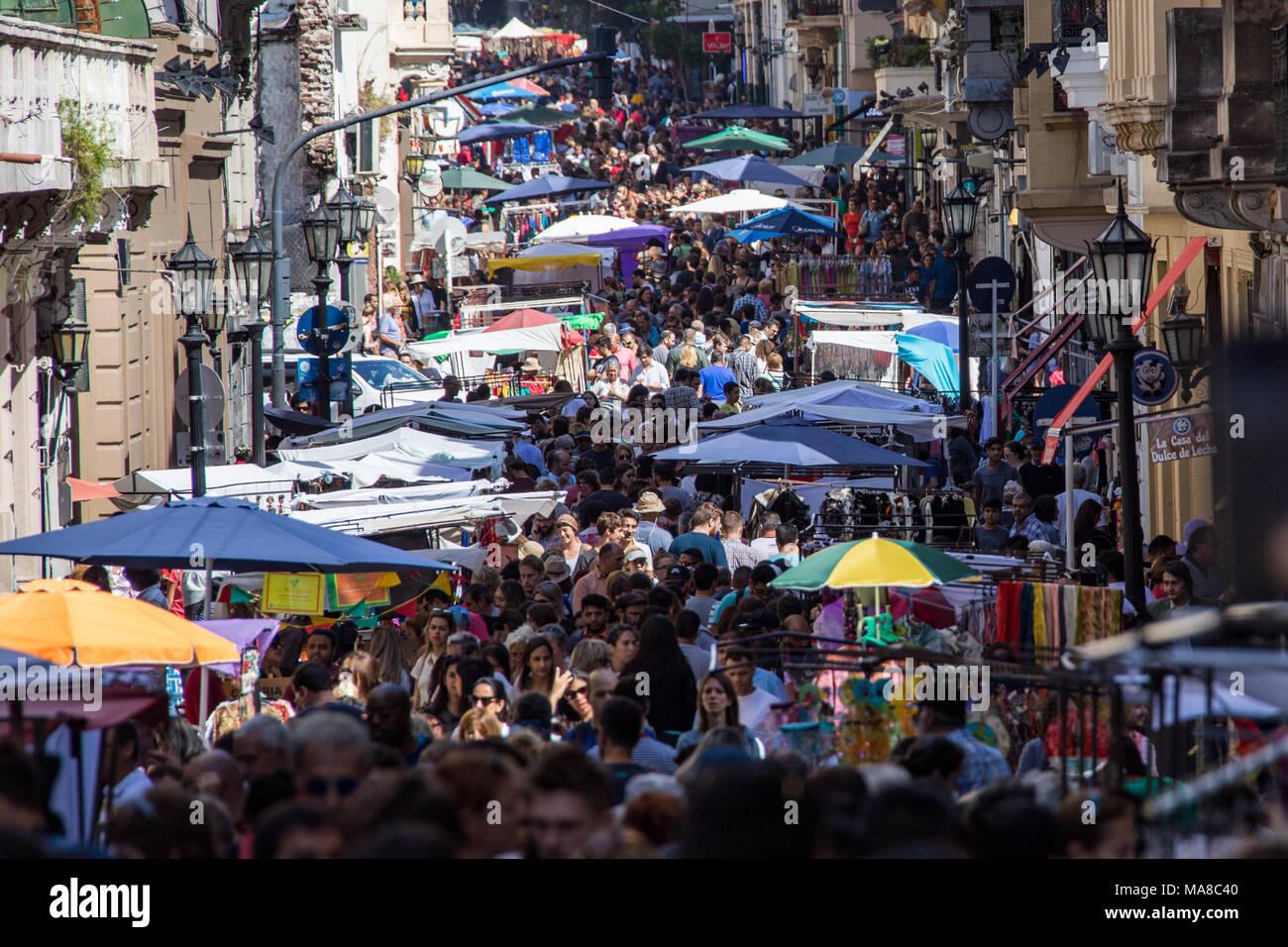 Feria de San Telmo, mercato di domenica, Buenos Aires, Argentina Immagini Stock
