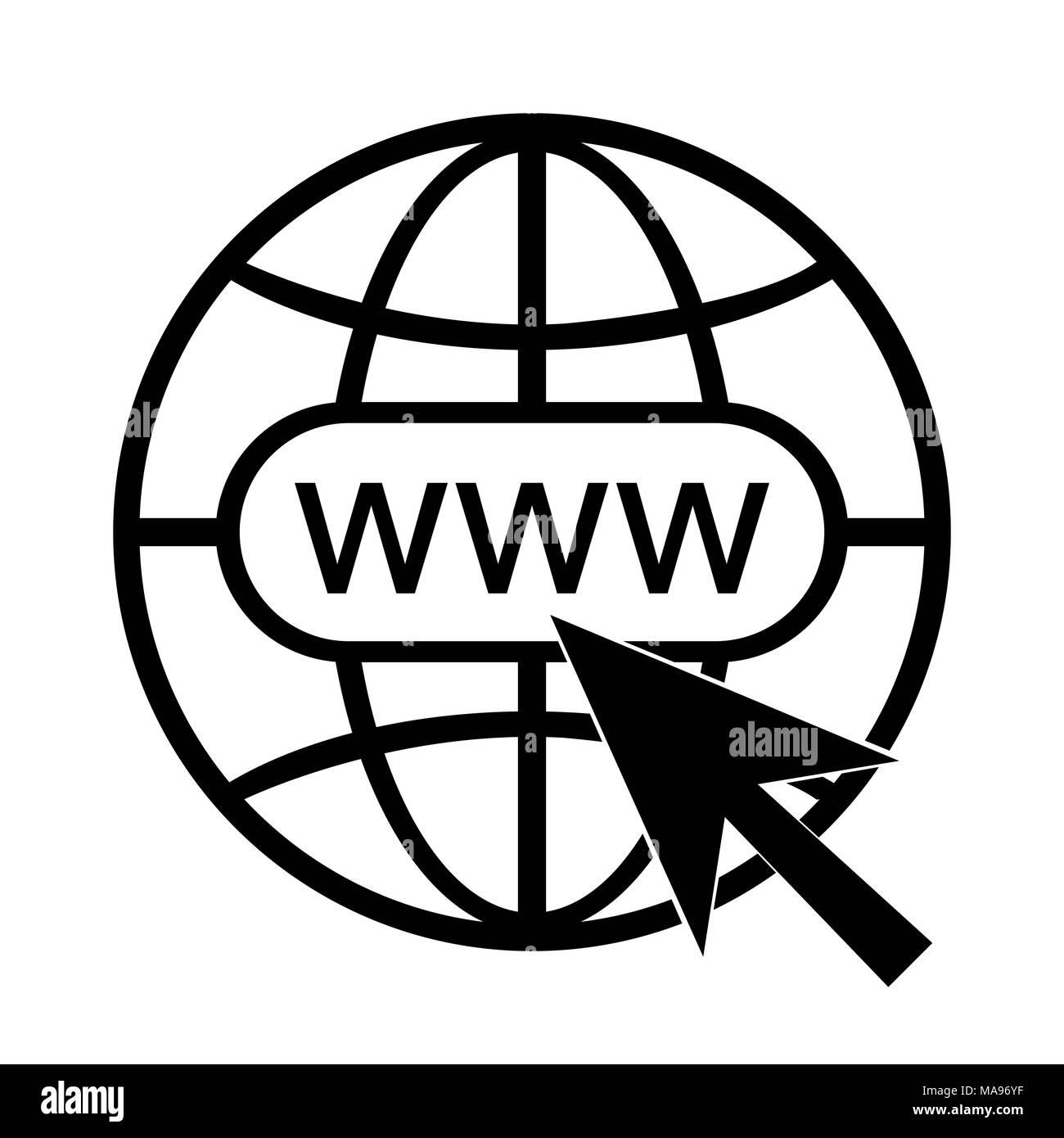 Www icona vettore simbolo del sito web illustrazione for Logo sito internet