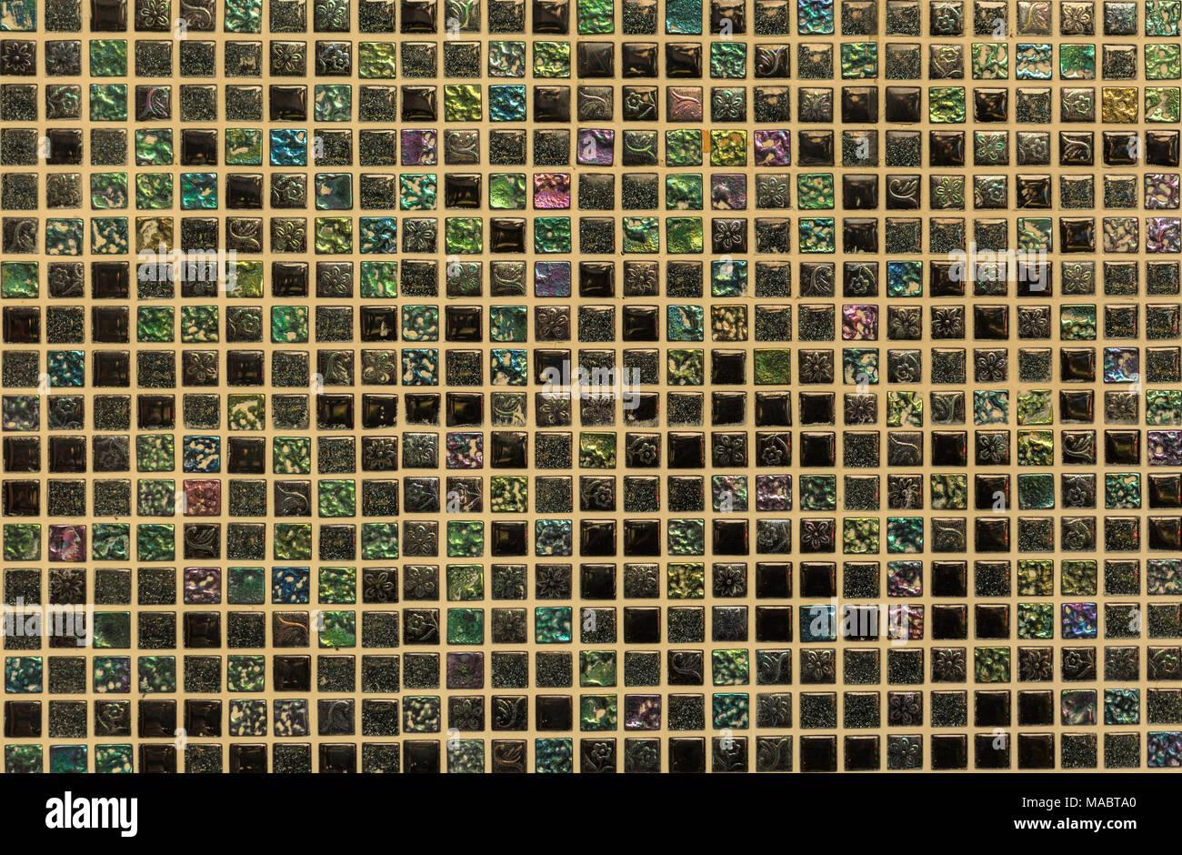 Parete Doro : Piazza d oro lucido parete in ceramica foto immagine stock