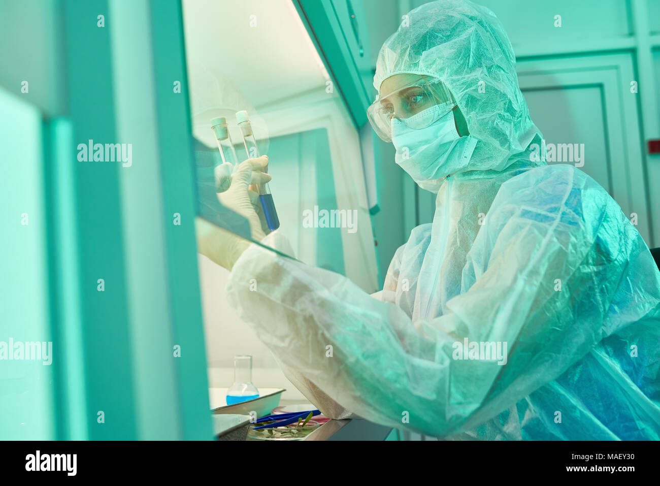 Laboratorio speciale posto per rischioso esperimento scientifico Foto Stock