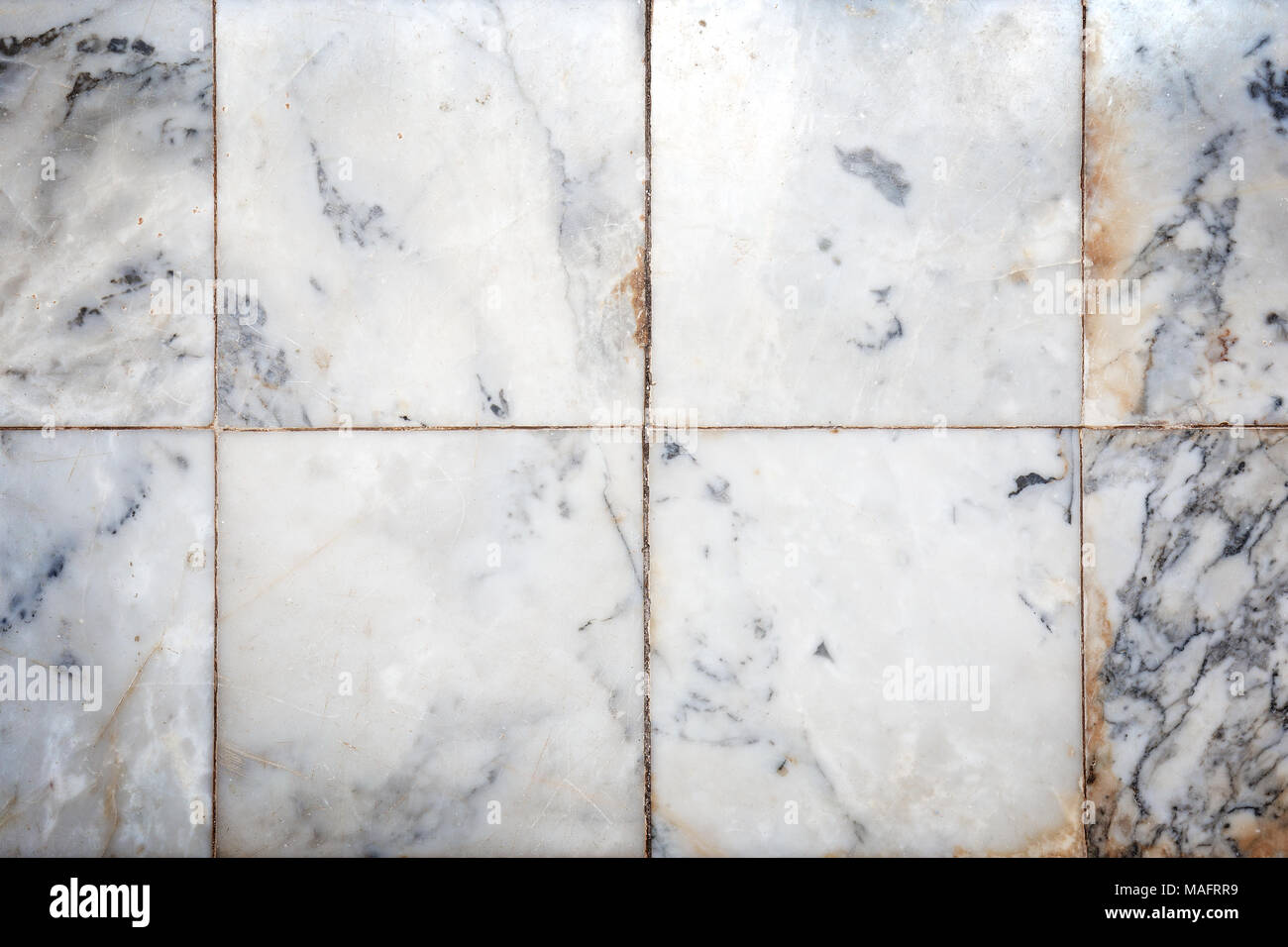 Close up di usura liscia in marmo naturale piastrelle sfondo