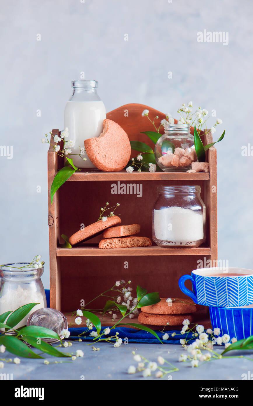 Mensola da cucina con cottura Ingredienti per i fiocchi d\'avena ...