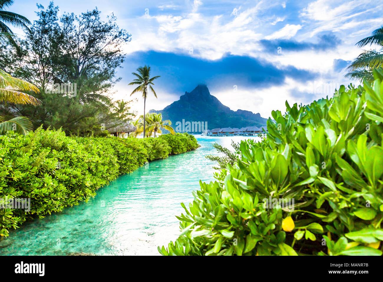Isola di Bora Bora, Polinesia francese. Immagini Stock