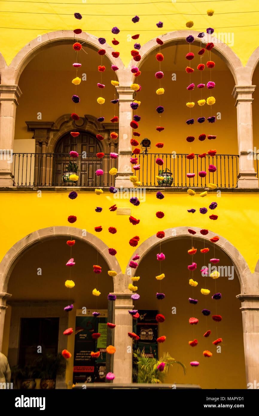 Gli interni della Casa de la Cultura, il che si traduce in casa della cultura, aguascalientes, Messico Immagini Stock