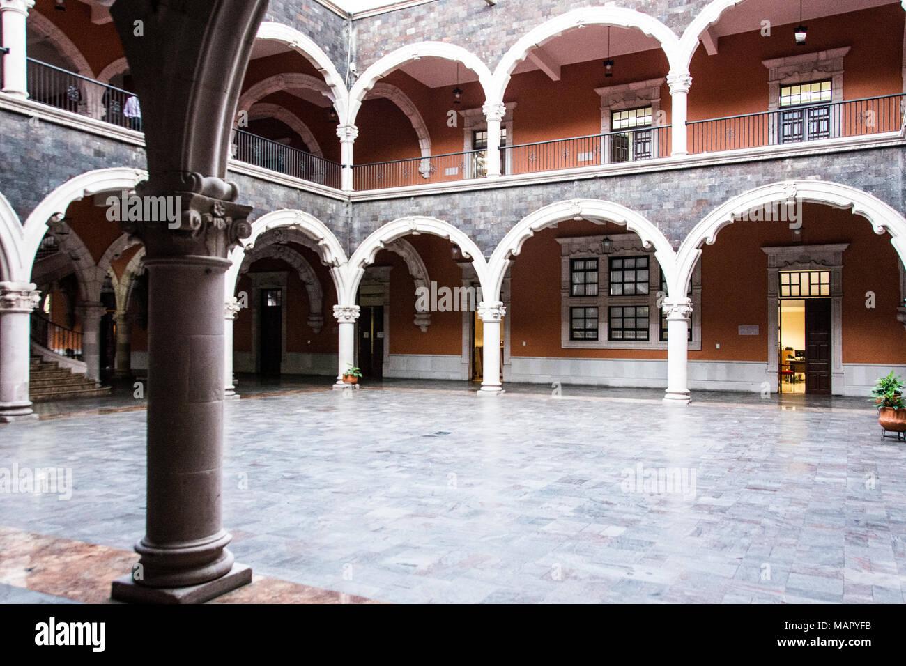 Casa de la Cultura, Casa di Cultura, aguascalientes, Messico Immagini Stock