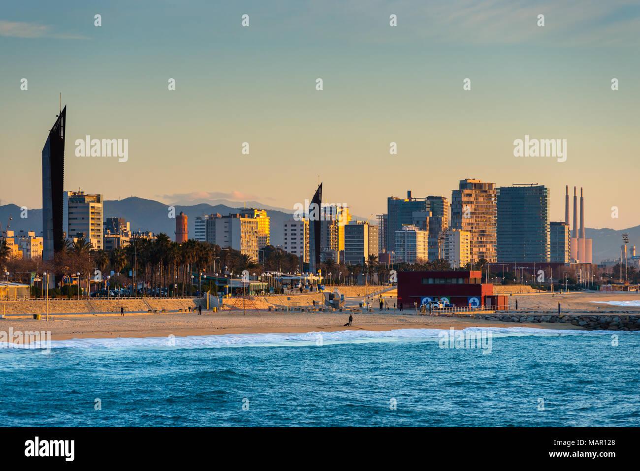 Barcelona waterfront immagini barcelona waterfront fotos for Alberghi barcellona sul mare