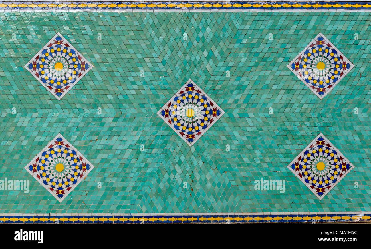 Il marocco fes medina souk arte naji famoso blu mano fatto