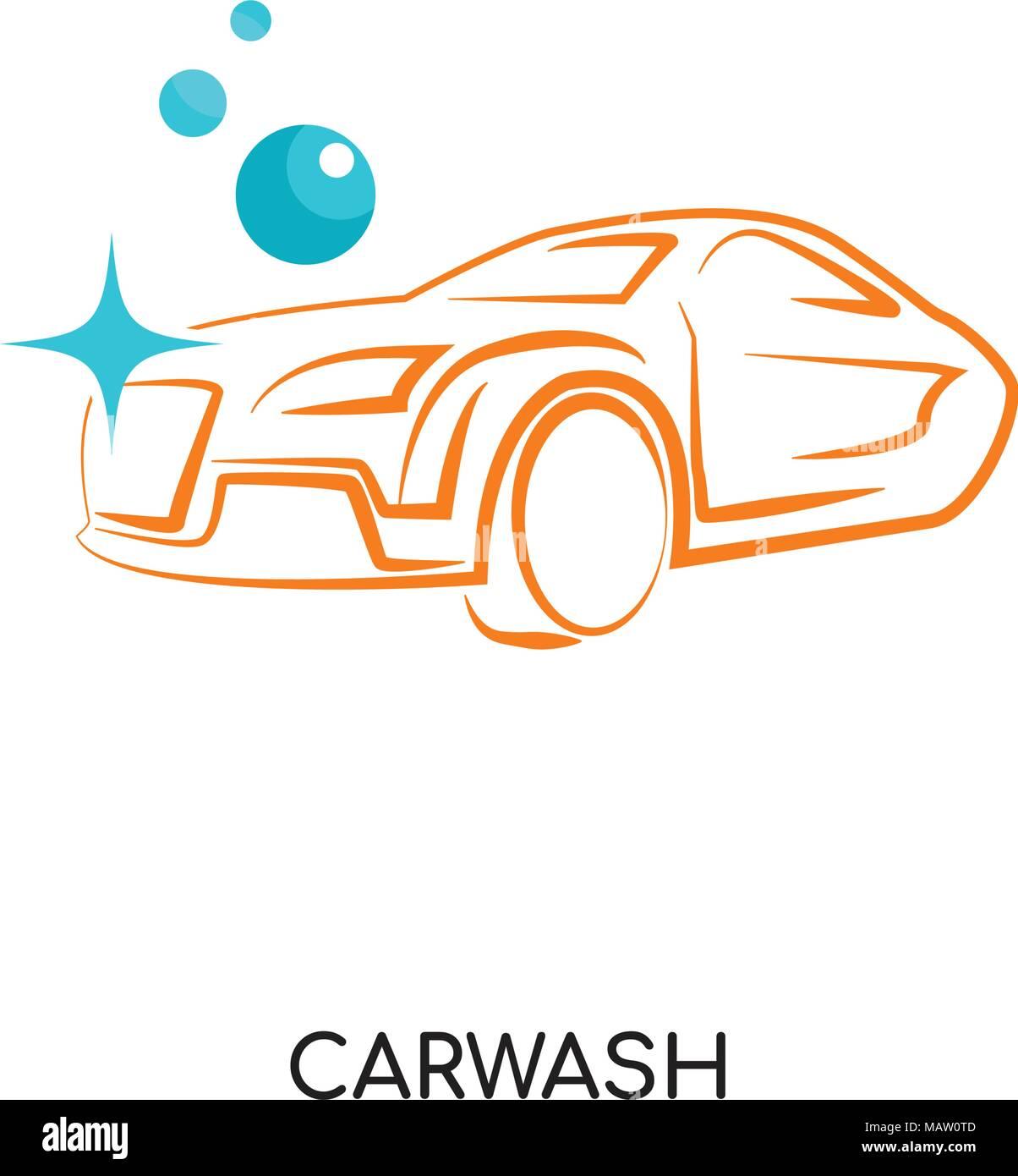 Il Logo Di Autolavaggio Isolati Su Sfondo Bianco Per Il Web Mobili