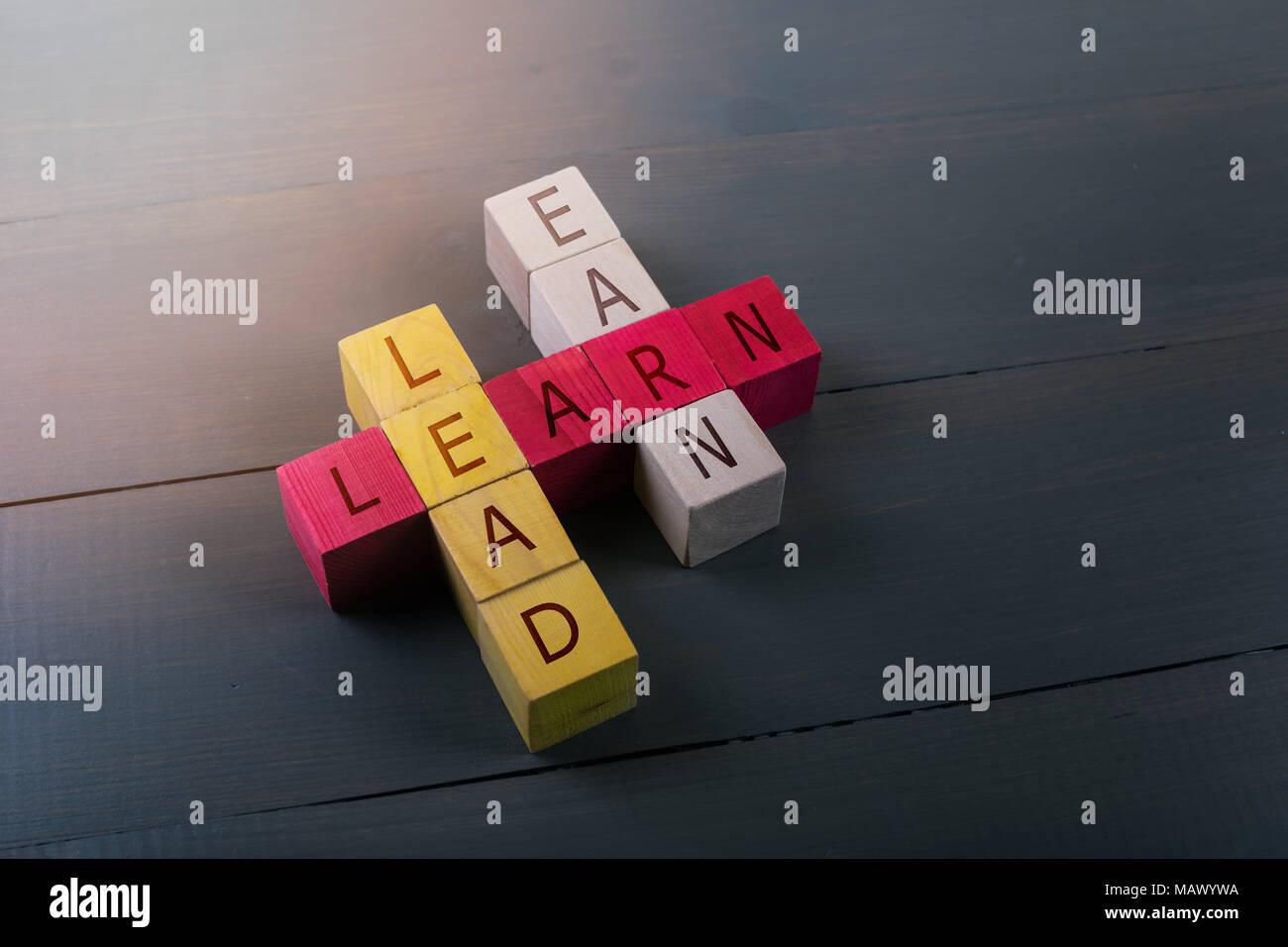 Concetto di istruzione leadership e il successo del business Immagini Stock