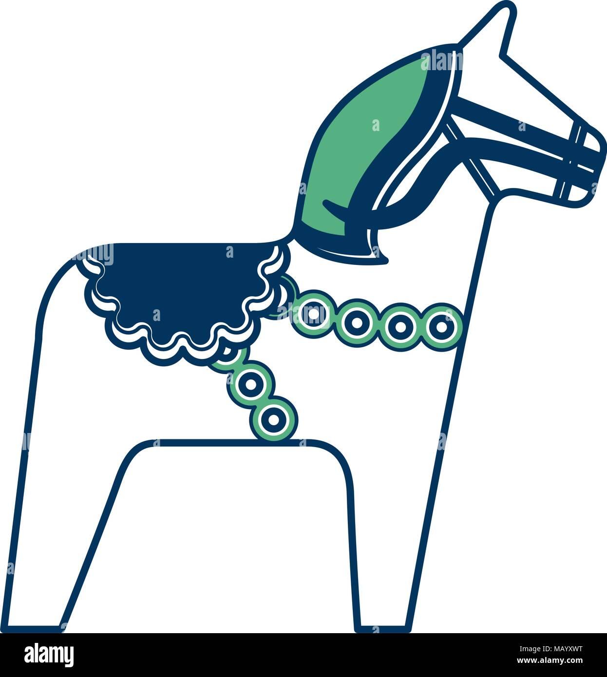 Cavallo Di Legno Giocattolo.Cavallo Di Legno Tradizionale Giocattolo Nazionale Simbolo Della