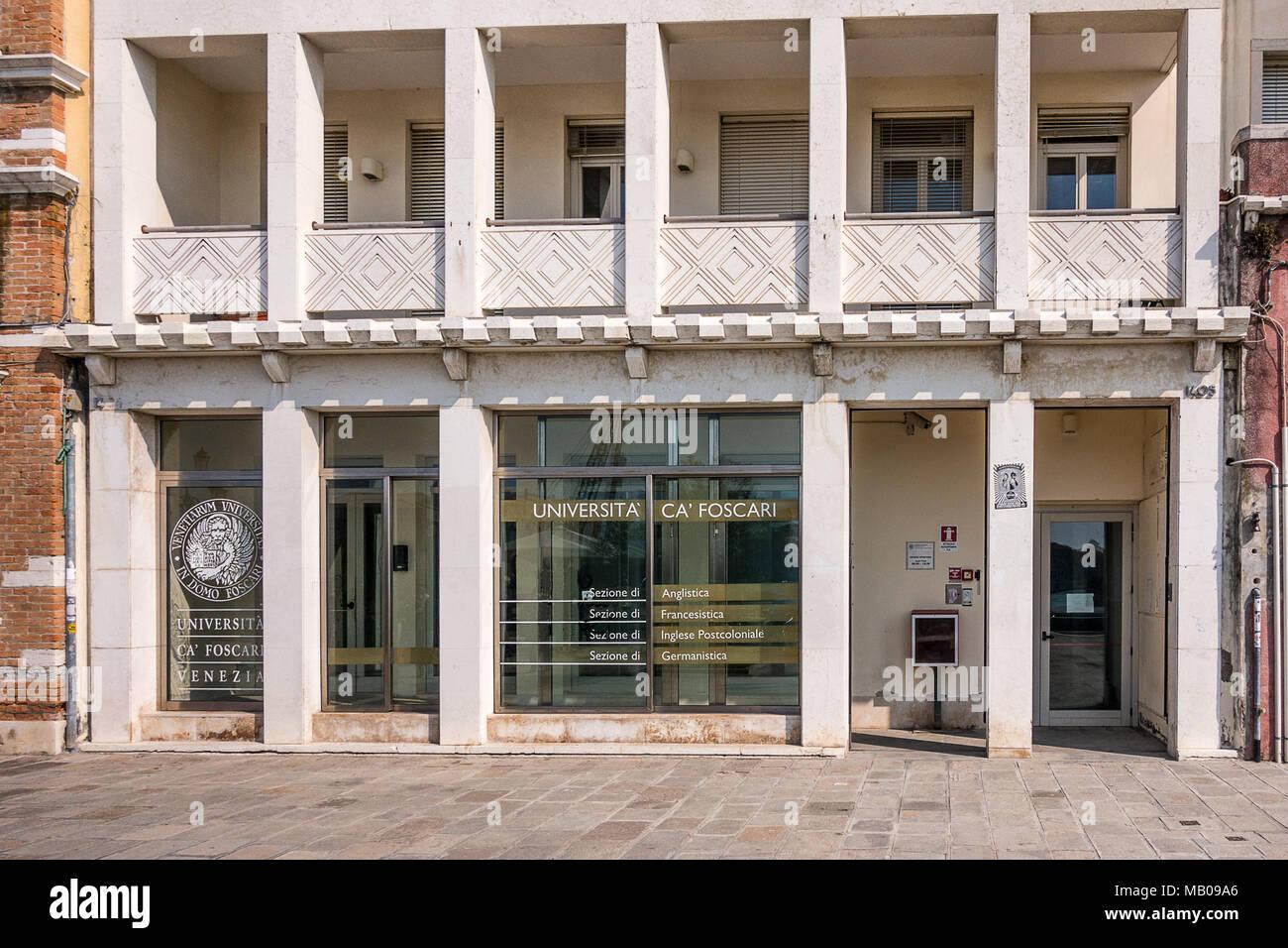 Università Ca Foscari di Venezia Immagini Stock