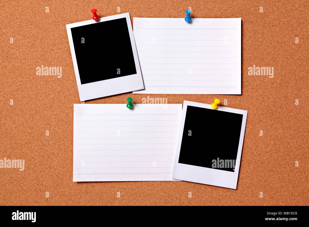 Bacheche Per Ufficio : Blank foto stampe e ufficio schede indice imperniato ad un tappo di