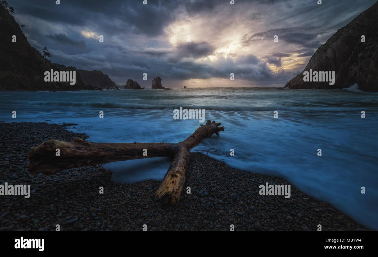 Spiaggia di silenzio Immagini Stock