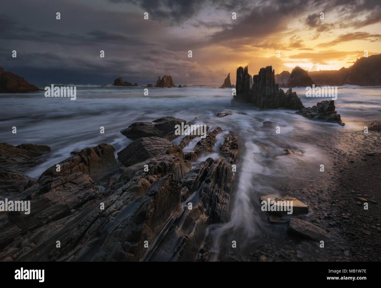 Spiaggia Guerua Immagini Stock