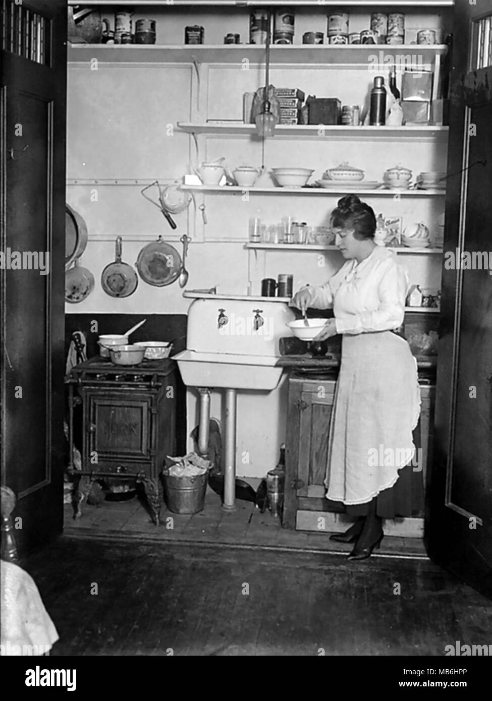 Cucina americana circa 1910 Immagini Stock