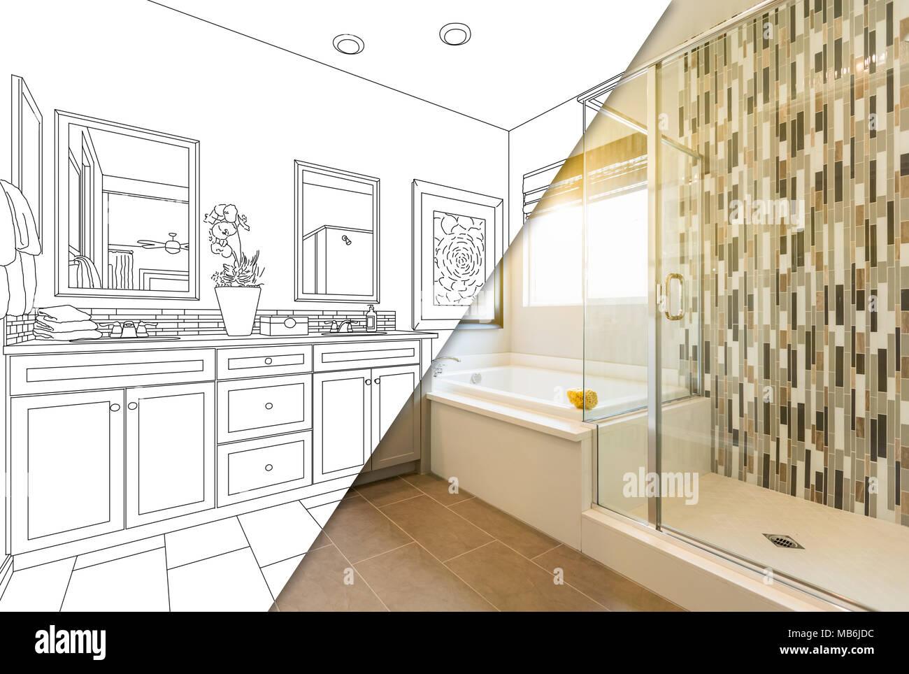 Master personalizzate il bagno era di disegno di progetto con