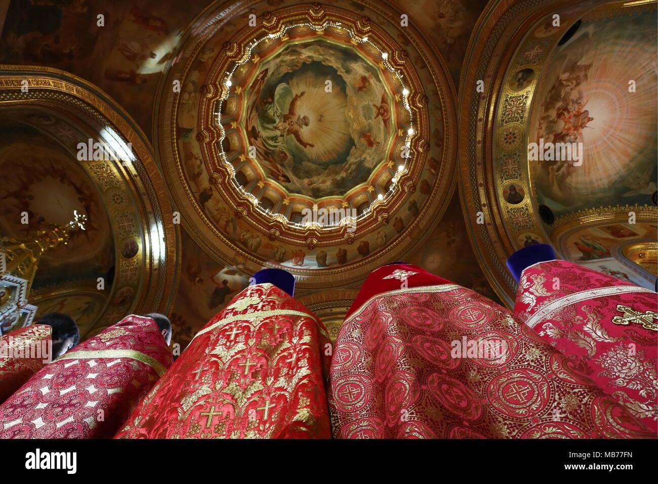 Il Calendario Giuliano.Mosca Russia 08 Apr 2018 Mosca Russia Aprile 8 2018