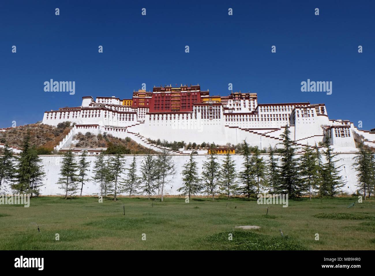 Palazzo del Potala, Tibet, Cina Immagini Stock