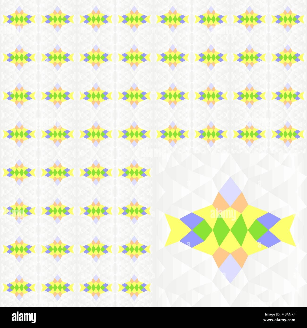 Seamless colorato modello geometrico di blu, verde, giallo, marrone Colori su gradiente texture grigio. Illustrazione vettoriale EPS10. Immagini Stock