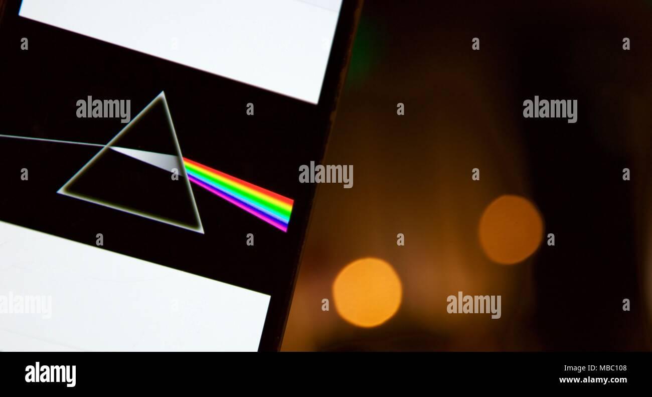 Pink Floyd Dark Side Of The Moon Disco Su Un Telefono Cellulare Con
