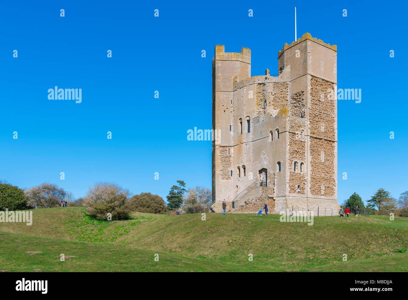 Orford Castle Suffolk, il ben conservato castello (XII secolo) mantenere gestito dalla National Trust in Orford, Suffolk, Inghilterra, Regno Unito Immagini Stock