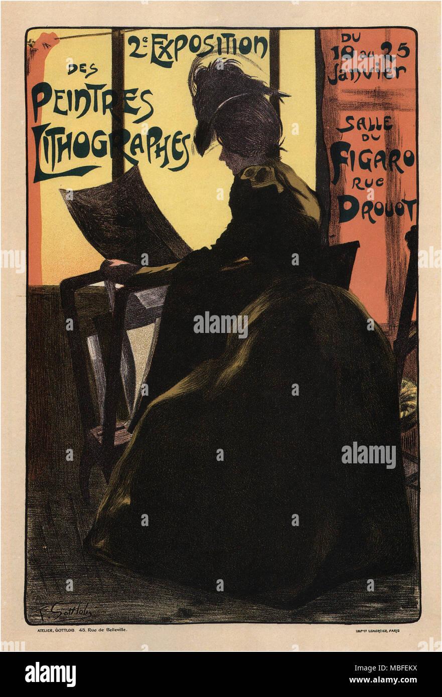 2a mostra di pittore-lithographers Immagini Stock