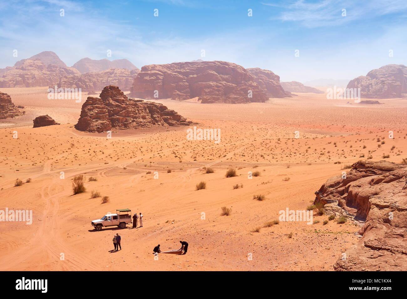 Wadi Rum Desert, Giordania Immagini Stock
