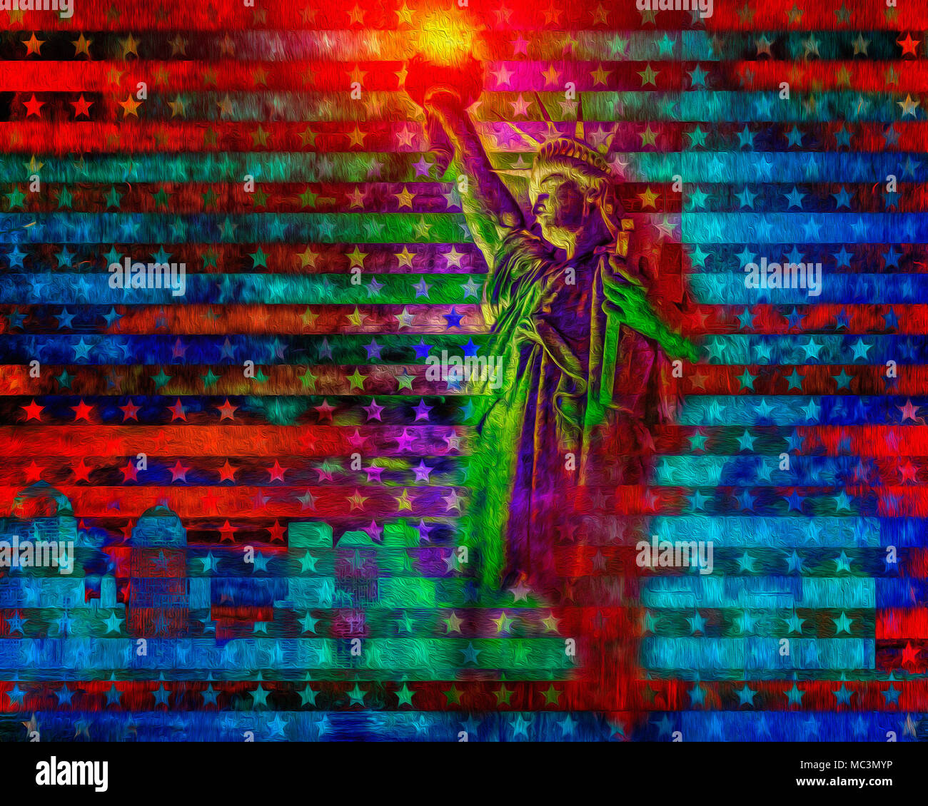 Arte digitale: New York Immagini Stock